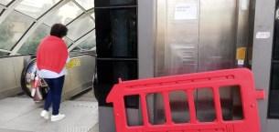 (Özel) Metrobüs'te bozuk asansör rezilliği