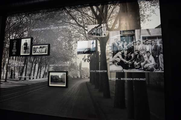 Below the BJK Museum is the Agacli Yol installation