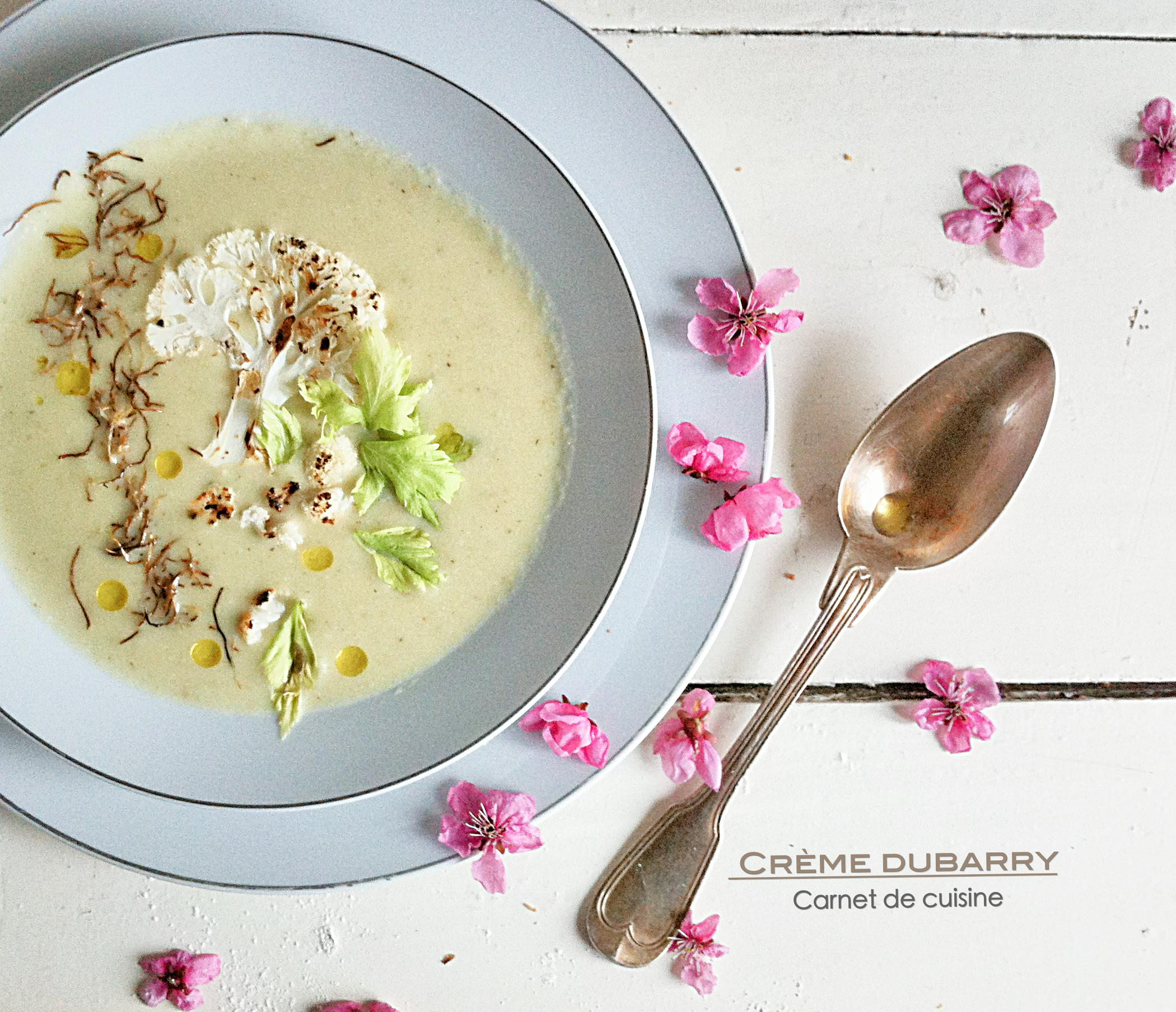 法國料理-情婦的濃湯奶油白花椰菜濃CRÈME DUBARRY – Carnet de Cuisine