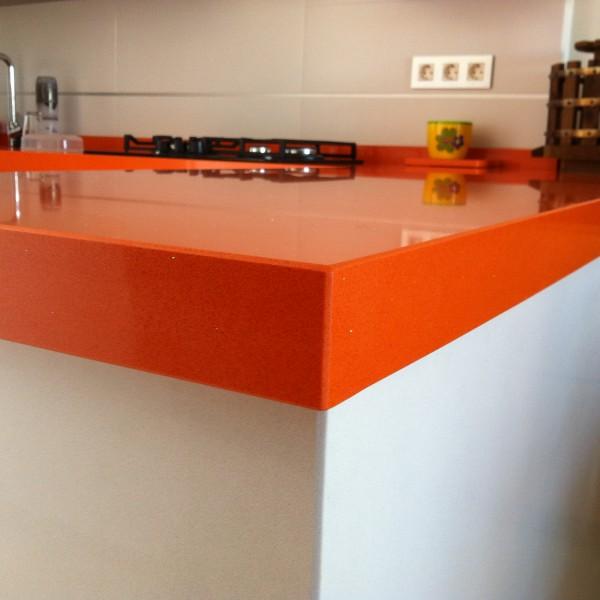 Mrmolista Alicante  Cocina Silestone Naranja Cool