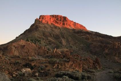 Montana Guajara at sunset