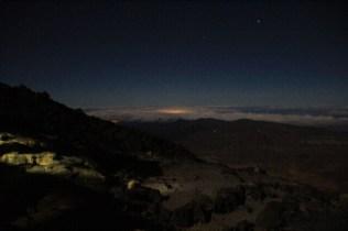 Outside the Altavista hut at night