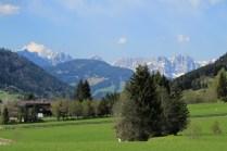 Wilder Kaiser as seen from Aschau in Kitzbüheler Alpen