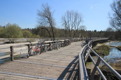 The wooden bridge at Flaucher