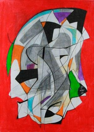 Grafito, lápices cera y rotulador / 27 cm x 20 cm