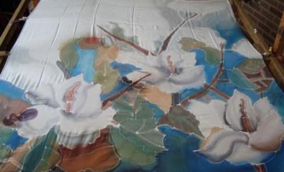 zijde schilderen in stappen