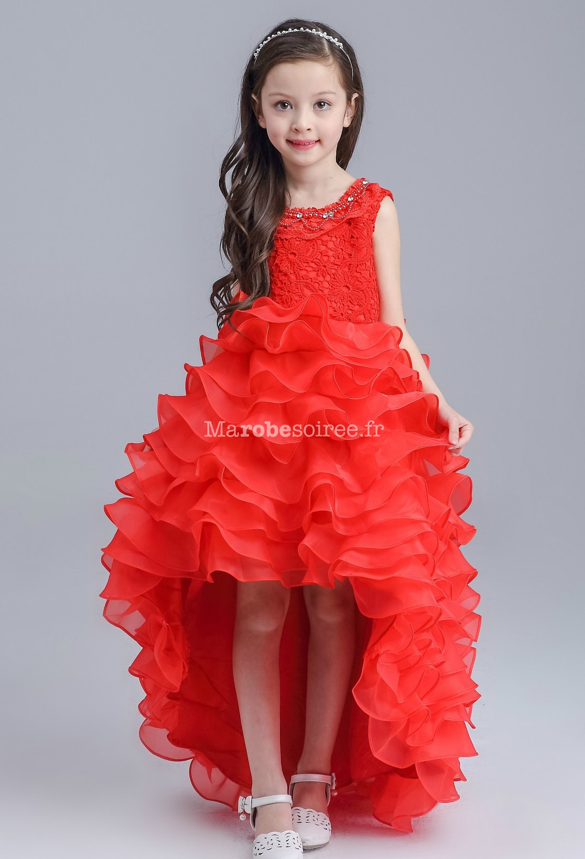 c2466ec6e73ca Robe De Soirée Jeune Fille Rouge