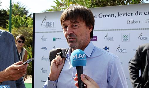 Nicolas Hulot : La COP22 sera celle d'»échange de solutions et de mutualisation des moyens»