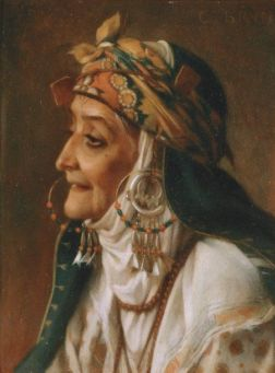 portrait d'une femme kabyle