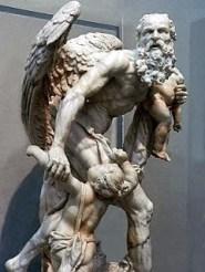 Cronus statue infants