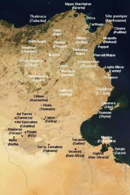 Site de Thuburbo Majus au nord de la Tunisie antique