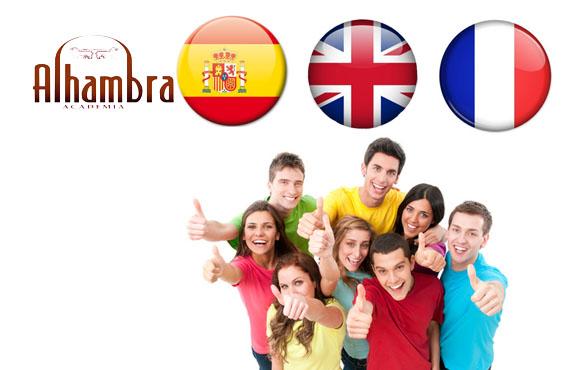 Cours d'Espagnol, Français ou Anglais pour débutants 100% communication par Alhambra à seulement 500dhs!
