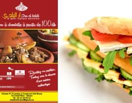Sandwich Beldi ou panini au choix + frites + boisson à 19dh au lieu de 30dh chez El Beldi!