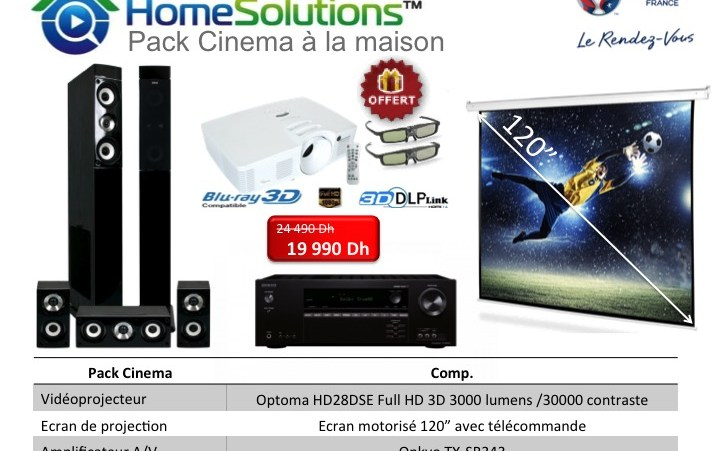 Pack Home cinema 4 en 1