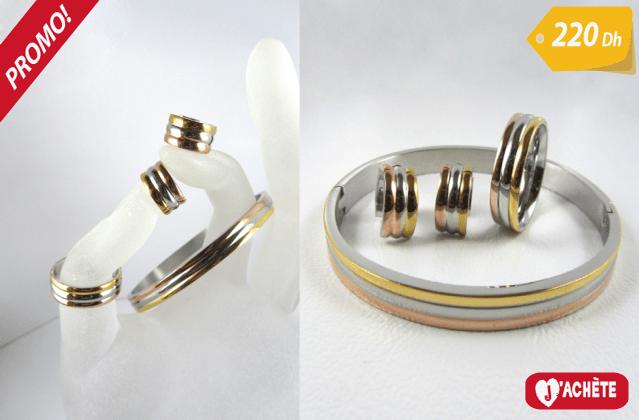 Ensemble 3 pièces bijoux tendance