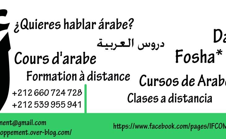 Formation langue arabe à distance