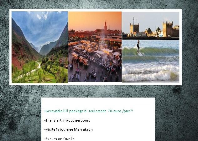 Ourika-Essaouira-Marrakech