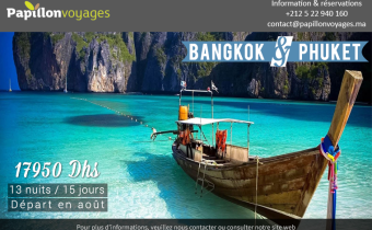 Thaïlande, circuit Bangkok, Phuket e, 15 jours à 17950 dhs
