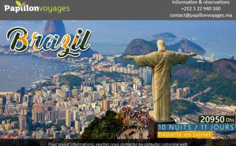 BRESIL CIRCUIT RIO DE JANEIRO PARATY ET SAO PAULO DU 11 AU 21/07/2016