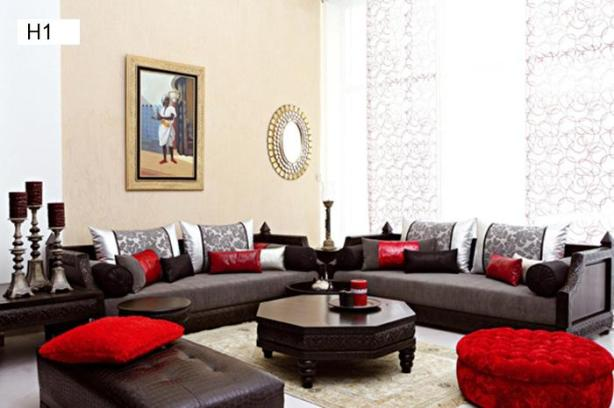 tissu de salon marocain  marocdecodesign