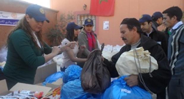 نادي روتاري باي بأكاديرينظم حملة إنسانية وخيرية لفائدة ساكنة سبعة دواوير بجماعة تقي بعمالة أكاديرإداوتنان