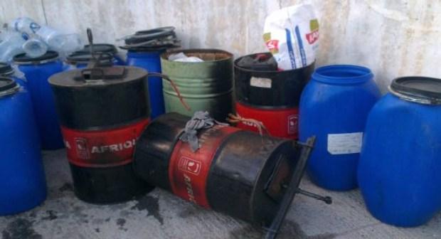 اعتقال مروج خمور بحي المسيرة بأكادير ومصادرة طنين من براميل الماحيا بمنزله