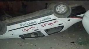 خطير: قلب سيارات للشرطة وشغب واعتقالات لمحتجين غاضبين من مرشحهم بتاوريرت