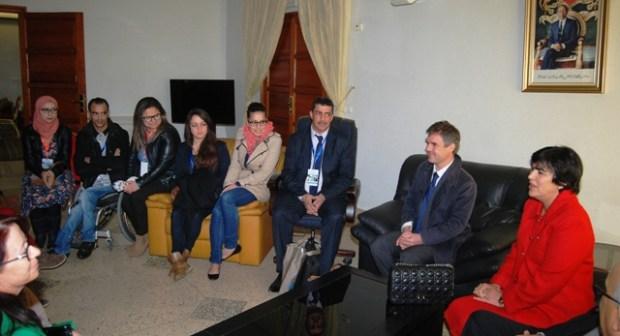 استقال السيدة الوالي للوفدين الجزائري و التونسي بمناسبة انعقاد أشغال الندوة الدولية حول مشروع التربية الدامجة بجهة سوس ماسة درعة.