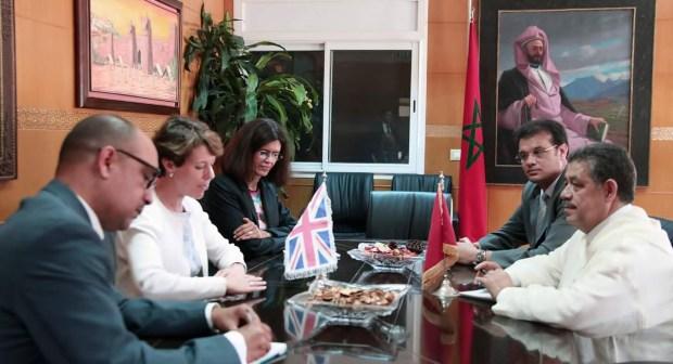شباط الأمين العام لحزب الاستقلال يستقبل سفيرة بريطانيا بالمغرب