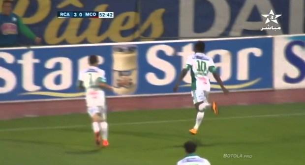 أهداف الرجاء البيضاوي في الدورة الأولى للبطولة الاحترافية 4 – 0 في شباك الكاك