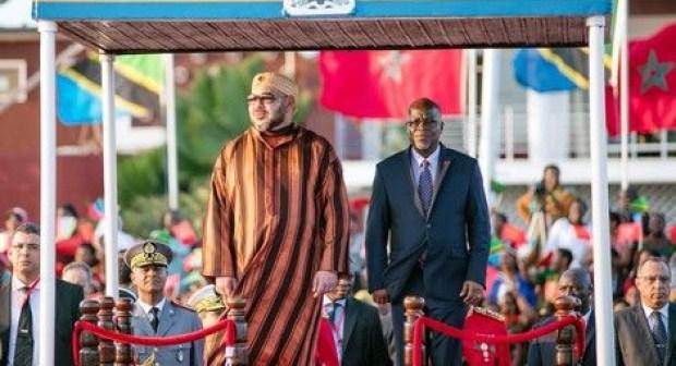 جلالة الملك يبعث برقية شكر وامتنان إلى الرئيس التنزاني في ختام الزيارة الملكية لبلاده