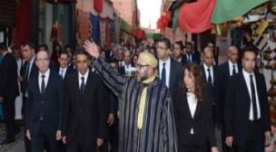 الملك يعطي انطلاقة مشاريع هامة تروم الحفاظ على الموروث التاريخي للمدينة القديمة لمراكش