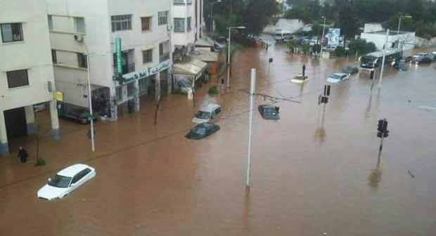 ربورتاج مصور حول فيضانات سلا