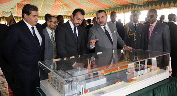 Conakry : SM le Roi visite le chantier de construction du complexe de formation professionnelle