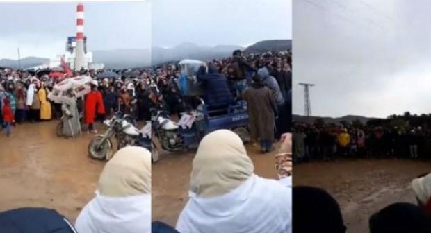 الاحتجاجات تتجدد في جرادة.. ومسؤول يطالب بمحاسبة الرباح + فيديو استخراج جثة الضحية