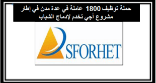 سفوريت: حملة توظيف 1800 عاملة في عدة مدن في إطار مشروع أجي تخدم لإدماج الشباب