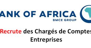 Societe BMCE Group recrute des Chargés de Comptes Entreprises