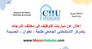 Concours de Recrutement CHU Tanger 2021 (161 Postes)