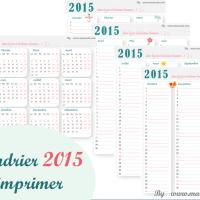 Calendrier 2015 à imprimer
