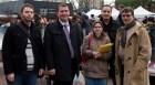 """Les militants d'Europe Ecologie Les Verts venus soutenir la liste """"Ensemble continuons"""""""