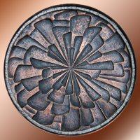 Copper Repousse Wall Sculpture - Artist, Sculptor, Metalsmith