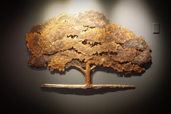 Copper Wall Art Metal Tree Sculpture