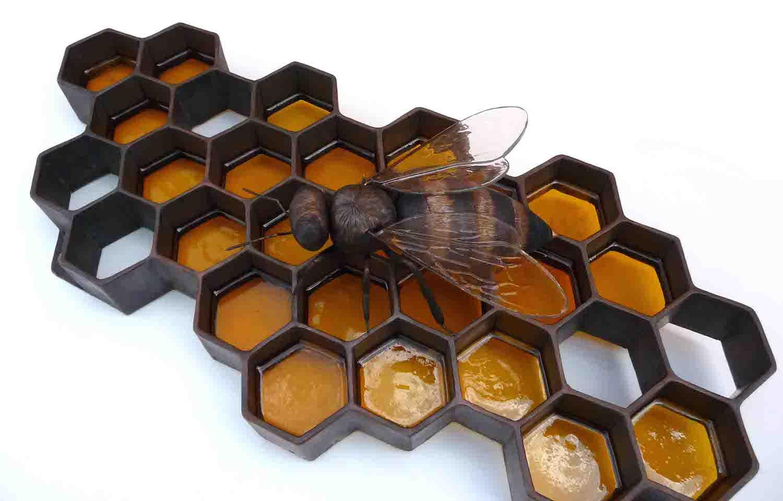Copper Honey Bee And Honeycomb Wall Sculpture Artist