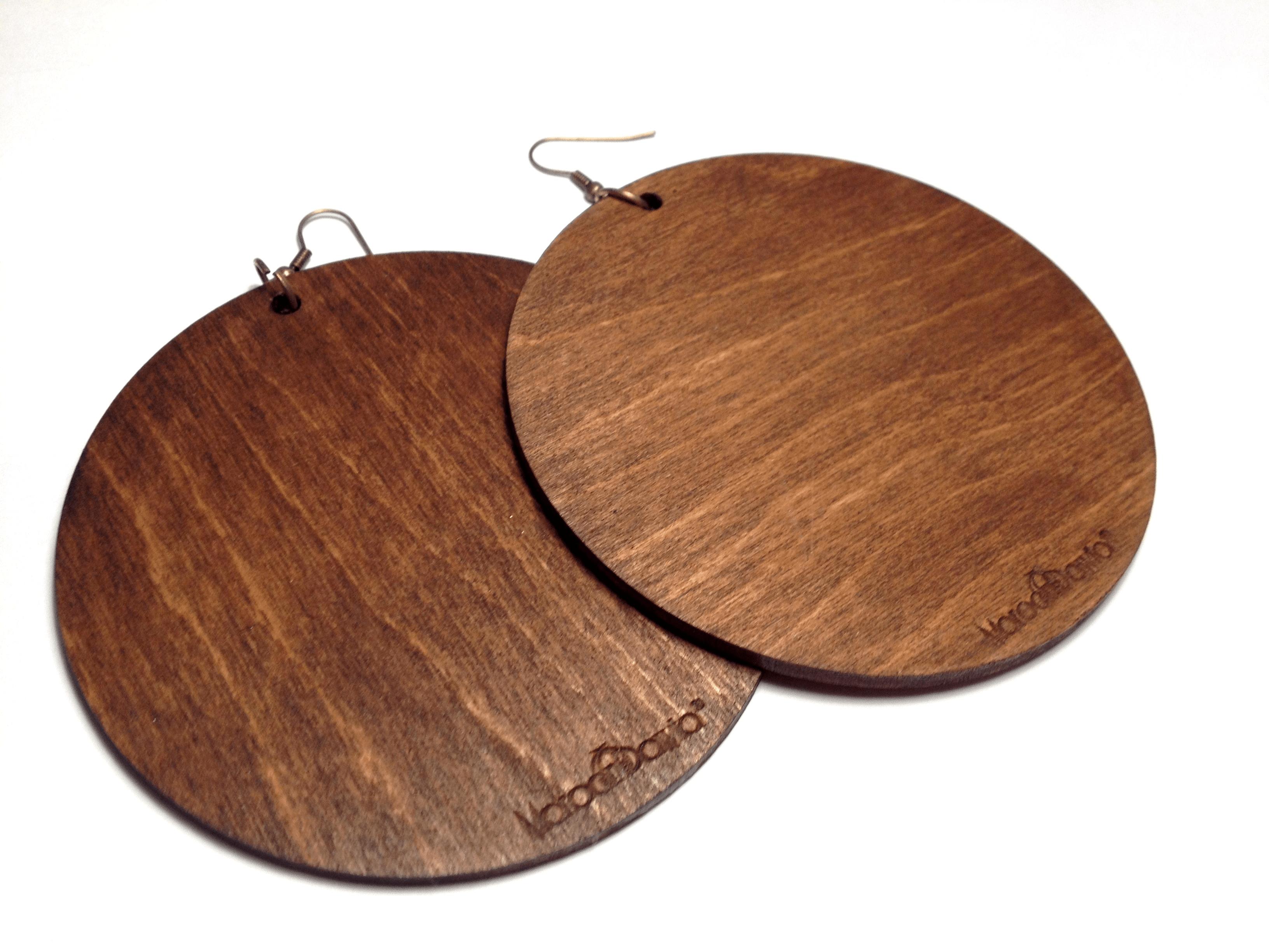 Wooden Earrings – Umber