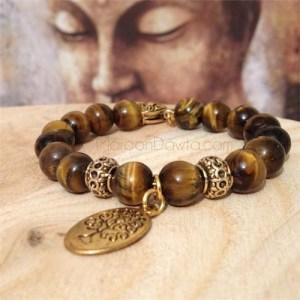 Tiger Eye Accents (bracelet)-173
