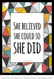 She believe. She did.