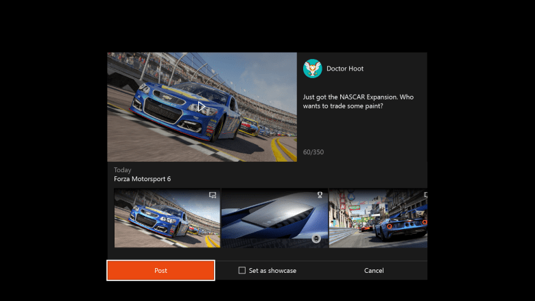 Facebook integration with Xbox games