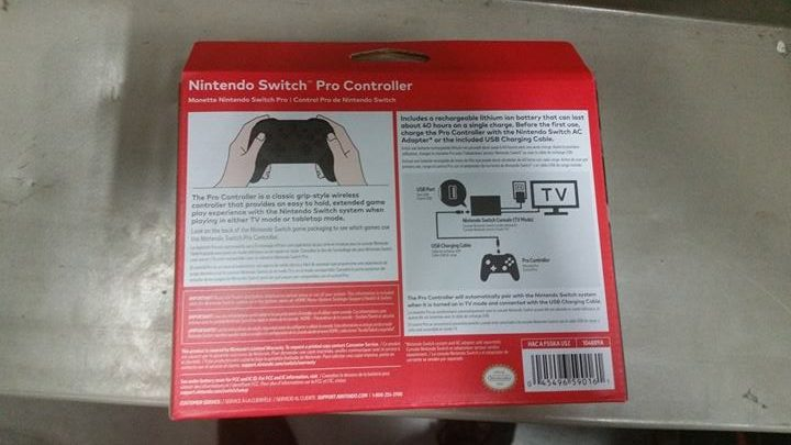 Switch accessories Pro Controller Back