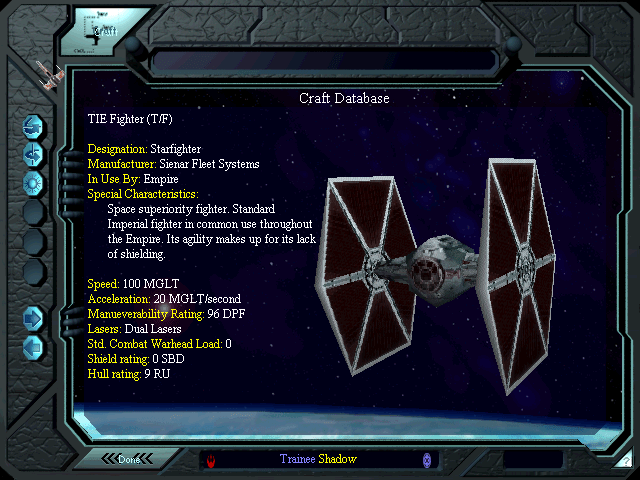 Star Wars X-Wing vs TIE Fighter Balance of Power Databank