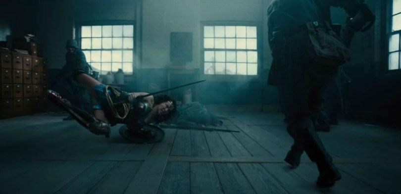Wonder Woman combat scene